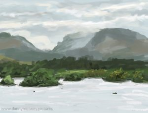 Danny Mooney 'Loch Awe, 18/8/16' iPad painting #APAD
