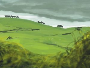 Danny Mooney 'On the way to Bristol 2, 5/9/16' iPad painting #APAD