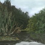 Danny Mooney 'Pond, 21/9/16' iPad painting #APAD
