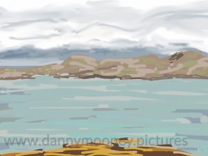 Danny Mooney 'Sound of Mull, 22/8/16' iPad painting #APAD