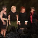 Danny Mooney 'The Acappella Bellas, 31/8/16' iPad painting #APAD