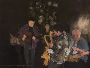 Danny Mooney 'The Marie White band, 18/9/16' iPad painting #APAD