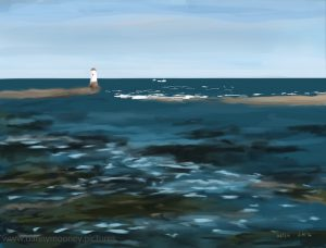 Danny Mooney 'The Tweed estuary, 16-8-16' iPad painting #APAD