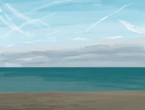 Danny Mooney 'Calm, 28/10/16' iPad painting #APAD