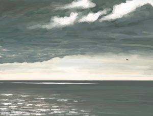 Danny Mooney 'Catching mussels, 6/10/16' iPad painting #APAD