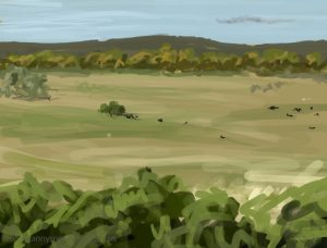 Danny Mooney 'Cattle, 10/10/16' iPad painting #APAD
