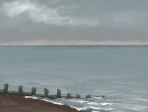 Danny Mooney 'Crows, 30/10/16' iPad painting #APAD
