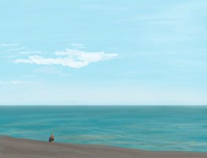 Danny Mooney 'Fishing, 31/10/16' iPad painting #APAD