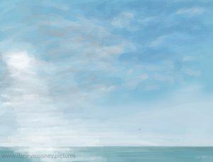 Danny Mooney 'Morning, 25/10/16' iPad painting #APAD