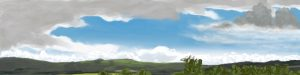 Danny Mooney 'Pulborough brooks panorama, 9/10/16' iPad painting #APAD