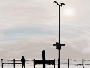 Danny Mooney 'Silhouette, 27/10/16' iPad painting #APAD