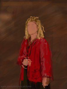 Danny Mooney 'Singer, 29/10/16' iPad painting #APAD