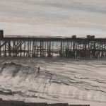 Danny Mooney 'Sketchy pier, 21/10/16' iPad painting #APAD