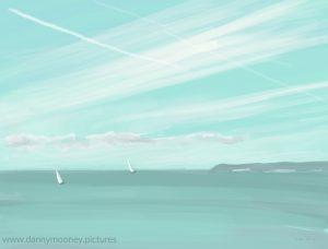 Danny Mooney 'Big ships, 13/11/16' iPad painting #APAD