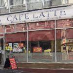 Danny Mooney 'Cafe Latte, 3/11/16' iPad painting #APAD