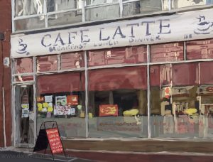 Danny Mooney 'Cafe Latte, 3/11/16' iPad painting #APAD