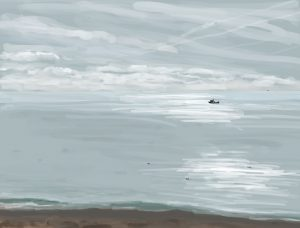 Danny Mooney 'Early Morning, 3/11/16' iPad painting #APAD