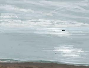 Danny Mooney 'Early Morning, 3/11/16' iPad painting #APAD