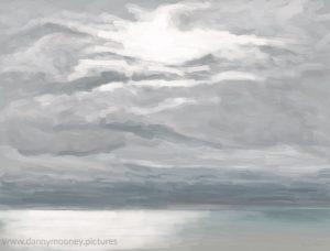 Danny Mooney 'Grey sky, sun, 9/11/16' iPad painting #APAD