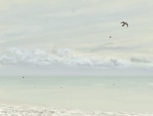Danny Mooney 'Gulls, 10/11/16' iPad painting #APAD