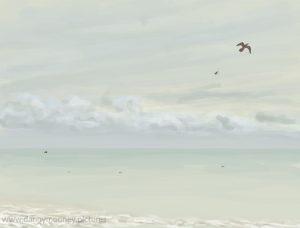 Danny Mooney 'Gulls, 10/11/16' iPad painting #APAD