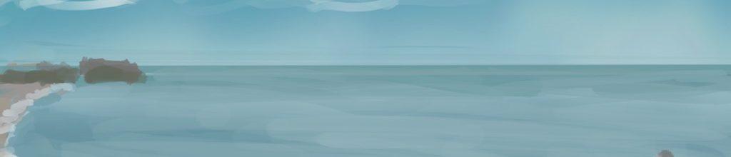 Danny Mooney 'More rocks, 11/11/16' iPad painting #APAD