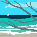 Danny Mooney 'Needhams point, 26.11.2016' iPad painting #APAD