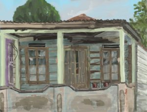 Danny Mooney 'Old house, 25.11.16' iPad painting #APAD