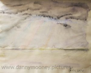 Danny Mooney 'Rays of light, 27/11/16' crayon and pen on paper