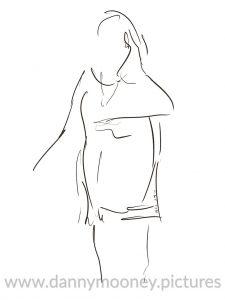 Danny Mooney 'Sara Colman #1, 10/11/16' iPad painting #APAD