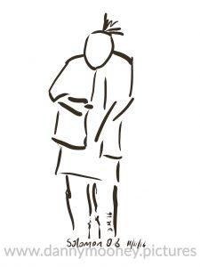 Danny Mooney 'Solomon OB #1, 11/11/16' iPad painting #APAD