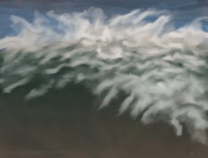 Danny Mooney 'Speightstown surf, 25.11.16' iPad painting #APAD