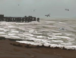 Danny Mooney 'Stormy, 12/11/16' iPad painting #APAD