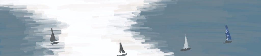 Danny Mooney 'Sunday sail, 6/11/16' iPad painting #APAD