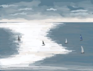 Danny Mooney 'Sunday sail, 6/11/16' iPad painting #APAD
