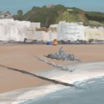 Danny Mooney 'The 1st rock delivery, 8/11/16' iPad painting #APAD
