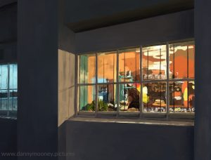 Danny Mooney 'The Edge of St Leonards, 1/11/16' iPad painting #APAD