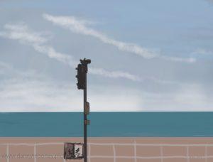 Danny Mooney 'Traffic lights, 2/11/16' iPad painting #APAD