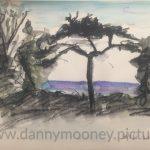 Danny Mooney 'Tree, 30/11/2016' iPad painting #APAD