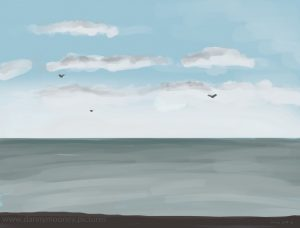 Danny Mooney '3 little birds, 3/12/2016' iPad painting #APAD