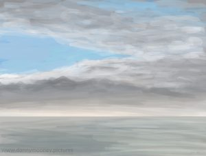 Danny Mooney 'Blue sky, grey sea, 22/12/16' iPad painting #APAD