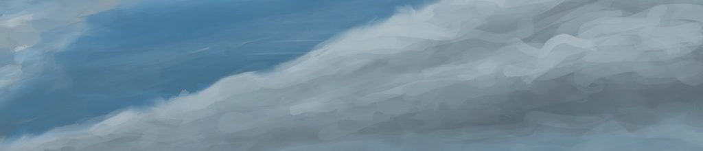 Danny Mooney 'Clouds, 29/1/17' iPad painting #APAD