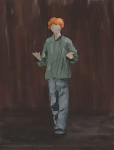 Danny Mooney 'Jamie, 4/12/2016' iPad painting #APAD