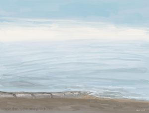 Danny Mooney 'Pale sea, 24/1/17' iPad painting #APAD
