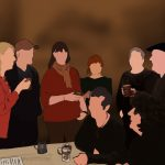 Danny Mooney 'Post rehearsal drinks, 11/12/16' iPad painting #APAD