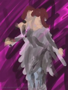Danny Mooney 'Happy Birthday Liane, 9/2/17' iPad painting #APAD