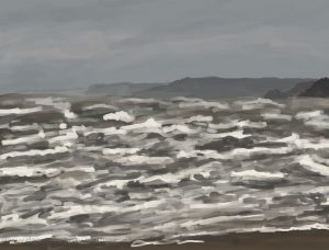 Danny Mooney 'Still stormy, 12/2/17' iPad painting #APAD