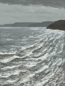 Danny Mooney 'Stormy seas, Scarborough, 11/2/17' iPad painting #APAD
