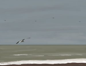 Danny Mooney 'Flyby, 1/3/17' iPad painting #APAD