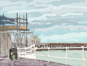 Danny Mooney 'Kiosk, 17/3/17' iPad painting #APAD